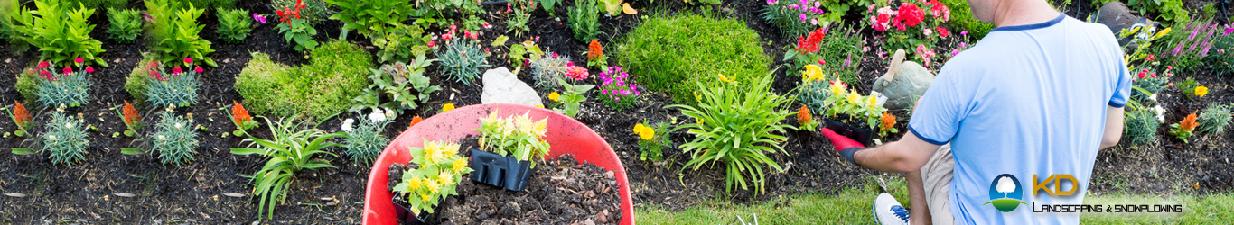 Kd landscaping and snowplowing bed maintenance buffalo ny for Landscaping rocks buffalo ny